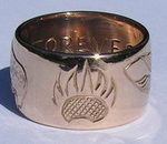 4-Direction Gold Rings - 4D1 - Bearclaw, Feather, Wolfhead and Buffalo