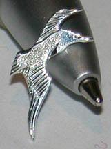 Non-Native Earrings - Albatross stud earring in silver