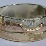 Wedding Rings - MnRcus39 – Arizona Landscape with porcupine and Hedgehog