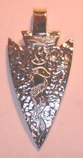 Silver Pendants - Pen7a - Medical Alert Arrowhead