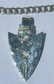 Silver Pendants - Pen7 - Medical Alert Arrowhead