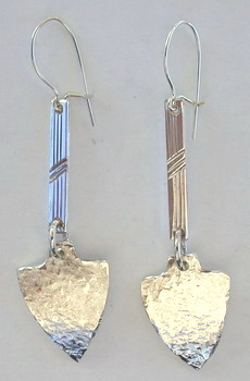 Dangly Earrings silver gold shepherds hooks studs