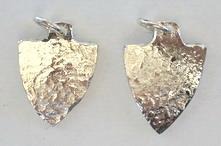 Silver Pendants - Pen2 - Small Arrowheads
