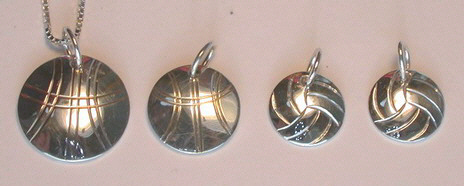 "Sports - SP12 - 1/2"" and 5/8"" disc pendants"