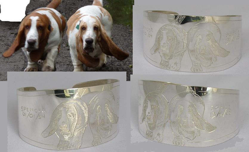 Non-Native Custom Bracelets cuff custom animals dogs silver gold