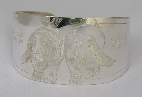 "Non-Native Bracelets - NNb13 - Spencer and Sophie 1-1/2"" Basset Hound Bracelets"