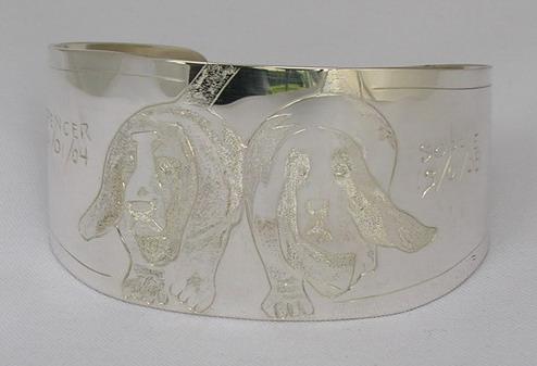"""Non-Native Bracelets - NNb13 - Spencer and Sophie 1-1/2"""" Basset Hound Bracelets"""