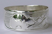 Silver rings , Animal and bird motifs