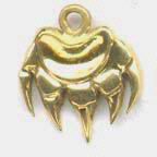 Cast Pendants - PenC6 - Silver and gold Bearclaws