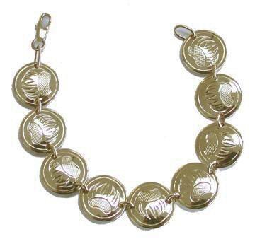Gold Bracelets - BG2 - Bearclaw Disc Bracelet