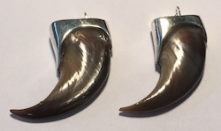 Cast Pendants - Pen9 - Capped Black Bear Claws
