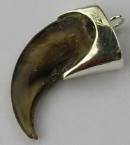 Capped Teeth Claw Pendants gold silver custom