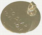 gold bail pendant