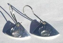 Silver Earrings - ERn15- Bearclaw Earrings - hooks