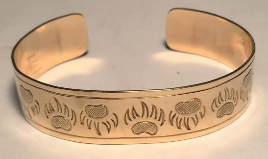 "Gold Bracelets - BG1 - 14k Bearclaw bracelet 1/2"" wide cuff"