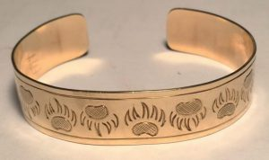Gold Bracelets cuff bear wolf eagle owl raven medical