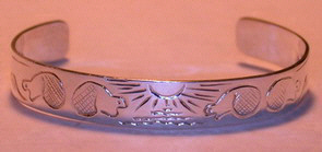 "Silver Bracelets - BS5 3/8"" Beaver Bracelet- our 2nd or 3rd design in 1989..."