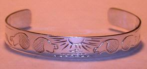 """Silver Bracelets - BS5 3/8"""" Beaver Bracelet- our 2nd or 3rd design in 1989..."""