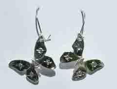 Silver Earrings - ERn33 Butterfly