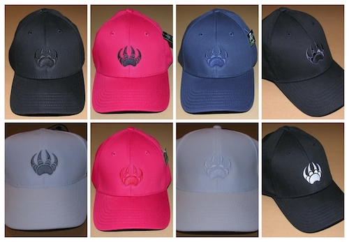 FlexFit Hat Caps Bearclaw logo All Colors