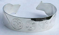 Cherokee Bracelets - ChBs Cherokee Symbol Bracelet Warrior, Spiral of Life, Journey