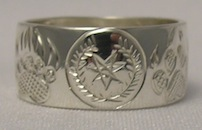 Cherokee Rings - CHr18 - Cherokee Grizzly Wolf Paws in Silver