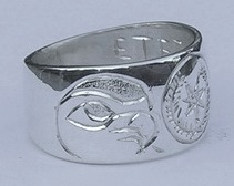 Cherokee Rings - CHr6 - Cherokee and Hawks Heads in Silver