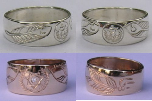 Cherokee Rings Warrior Journey Spiral of life silver and gold jewelry