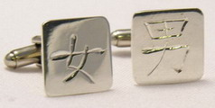 Kanji Chinese Cuff Links Non-Native - NNKc4 - Chinese Character - Man - Woman