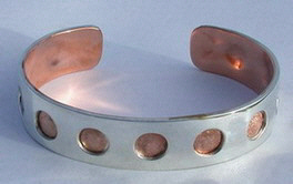 Copper Silver Holes