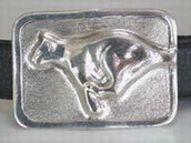 cougar belt buckle wax carving for Jewelry mold