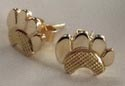 """Stud Earrings - ERss14 - Dog paw - 14k gold - 3/8"""""""
