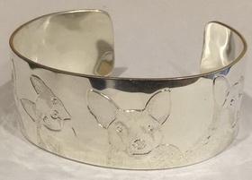 Non-Native Bracelets - NNb17 - 4 Dogs engraved - Husky- Boston Terrier, MinPin- Chihuahua, german Shepherd