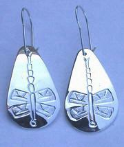 Tear Drop Earrings - ERn19 - Dragonfly teardrop earrings in silver