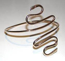 Gold Bracelets - BG3 - Eagle Head Arm Band