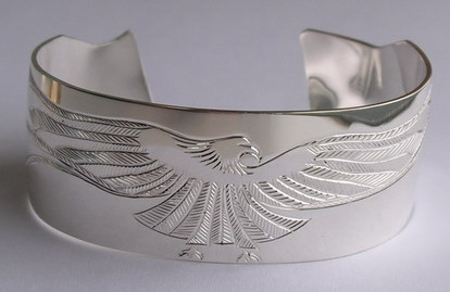 Feather & Bird Bracelets gold silver cuff custom eagles hawk raven falcon hummingbird