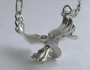 Cast Pendants - PenC1- Flying Eagle with figaro chain in silver or gold