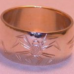 4-Direction Gold Rings - 4drg9a - Eagle, Lizard, Snake, Spider