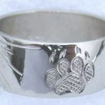 4-Direction Gold Rings - 4drg11a - 14k white gold, Spiral of life , Medicine Wheel, wolfpaw, Sun burst