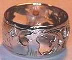 Gem Stone Rings - RSt10 - Elk, Flowers, Citrine and Diamonds