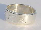 Kanji Chinese Rings - NNkr1a - Silver - Eternal Love Friend