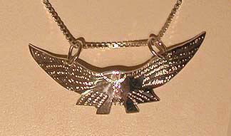 Bird-Feather Pendants - Pen13 - Flying Falcon pendant
