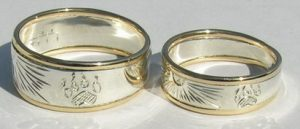 Rings - Appliquéd gold and silver Rings