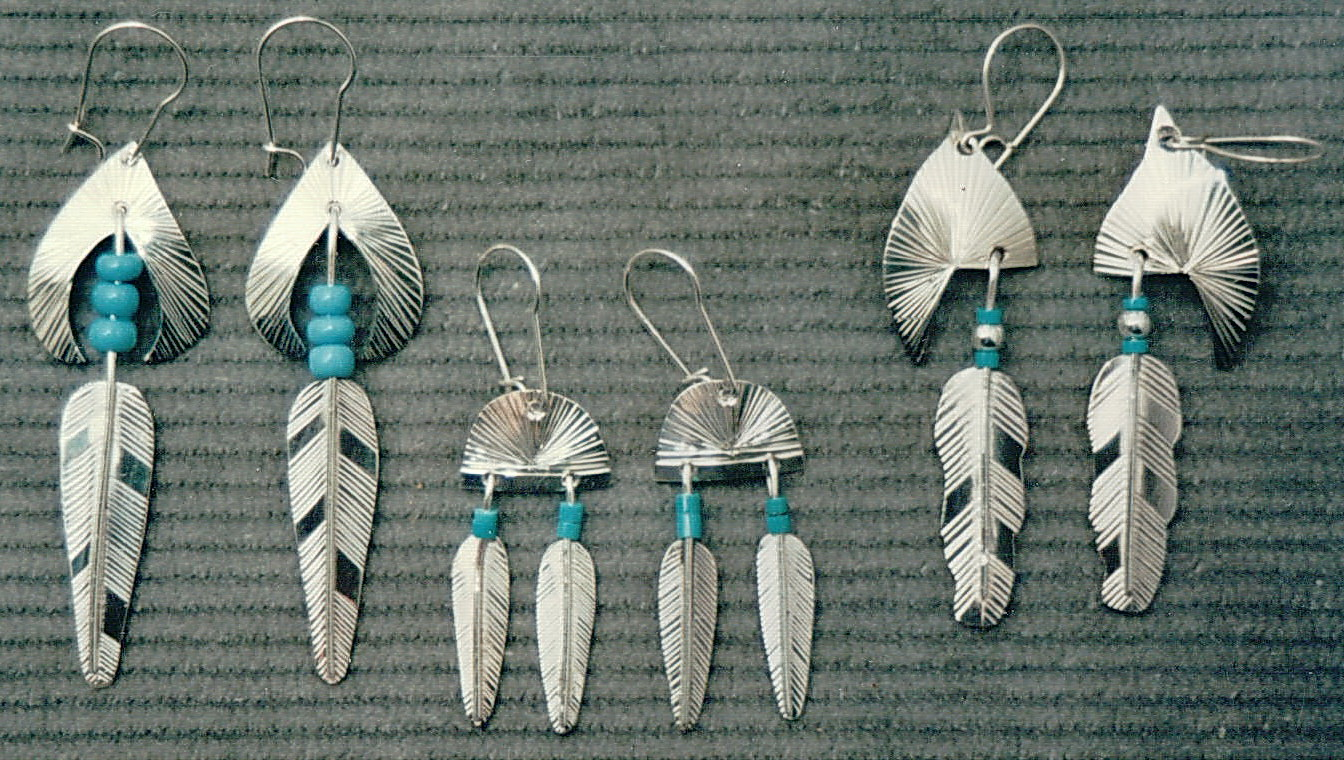 Our 1st Work - Feather earrings