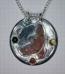 Flying Hawk Inlay Medicine Wheel