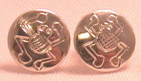 "Stud Earrings - ERss1 - Frog studs- 5/16"" and 3/8"""