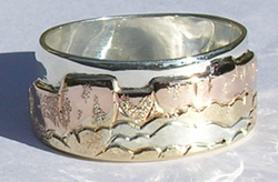 Multi Metal Mountain Rings - MnRMM4 - Mountains from the Gila National Forrest in New Mexico