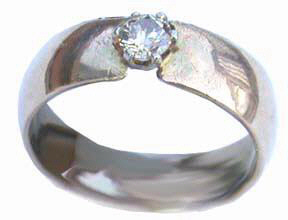Gem Stone Rings - RSt13 - Band with .50 ct diamond