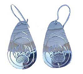 Tear Drop Earrings - ERn3 , Grizzly teardrop earrings