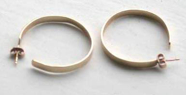 Silver Earrings - ERn2 hoop earrings in silver or gold